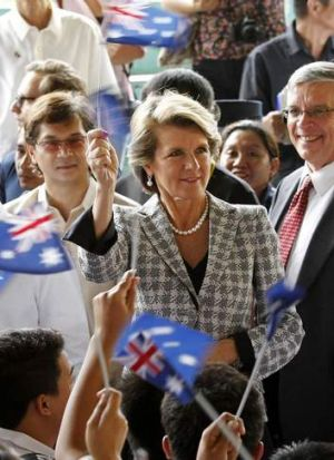 Australian Foreign Minister Julie Bishop (pictured in Manilla last month) has denied there is any wish to change the ...