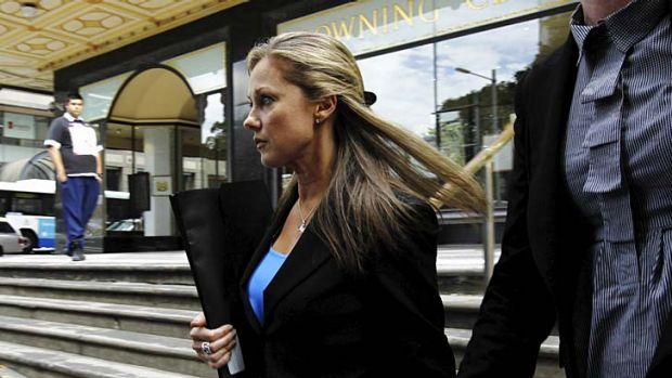 """""""I never saw it, I only ever heard about it."""" Simone Buchanan outside court."""