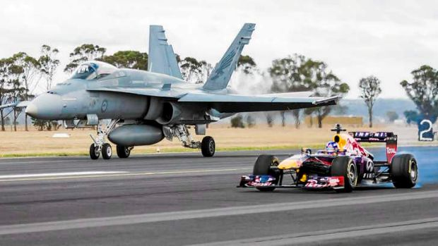 Mismatch: Red Bull's Daniel Ricciardo has compared his incredible day job to that of a Royal Australian Air Force Pilot ...