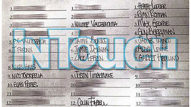 Lindsay Lohan's 'list of lovers'.