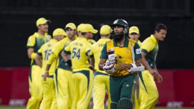 Hashim Amla was caught and bowled by Clint McKay.