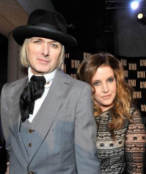 With her current husband, music producer Michael Lockwood, in 2012.