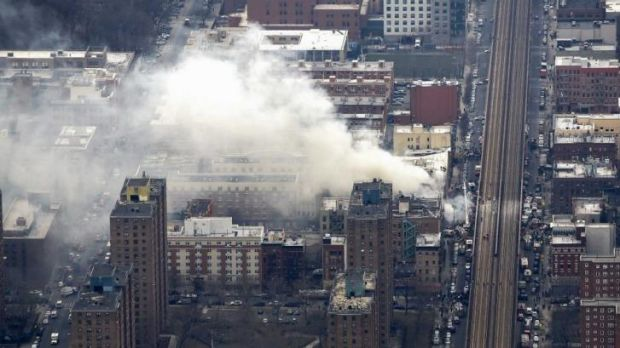 The explosion was caused by a gas leak, the New York City Fire Department said.