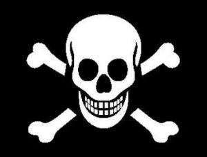 The Jolly Roger.