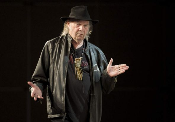 Earlier in the week ... Neil Young speaking during SXSW 2014 Music Festival in Austin, Texas.