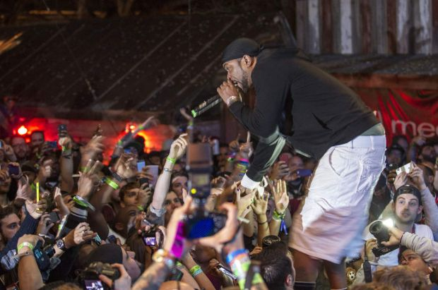Earlier in the week ... Method Man performing during SXSW 2014 at Stubbs at the Def Jam showcase in Austin, Texas.