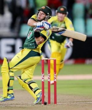Brad Hodge led Australia to victory against South Africa on Wednesday.