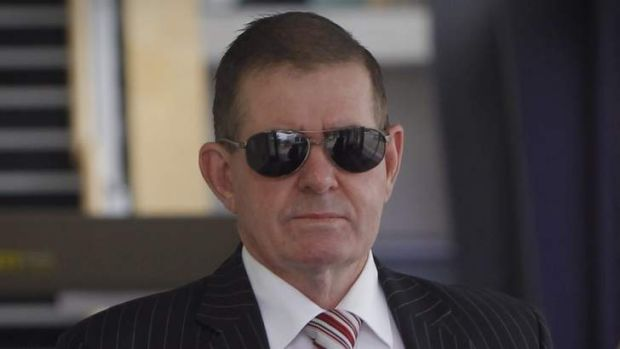 Peter Slipper departs the ACT Magistrates Court in December.