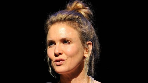 Renee Zellweger, speaking at a recent charity event.