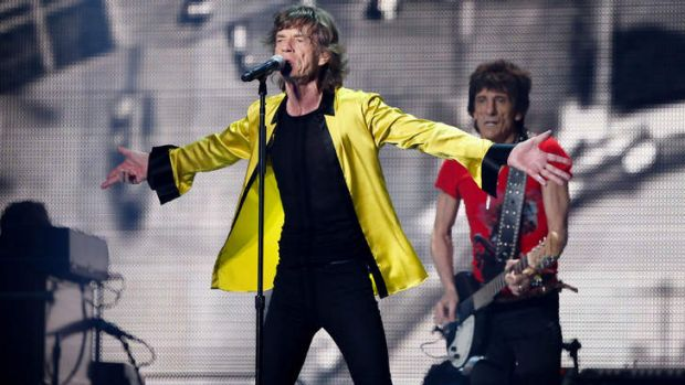 Censored ... The Rolling Stones performing in Shanghai on March 12, 2014.