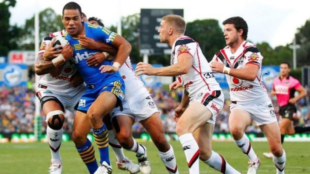OK to return: Will Hopoate against the Warriors.
