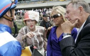 Happier times: Nash Rawiller, Gai Waterhouse, Yvette Hartman and John Singleton.