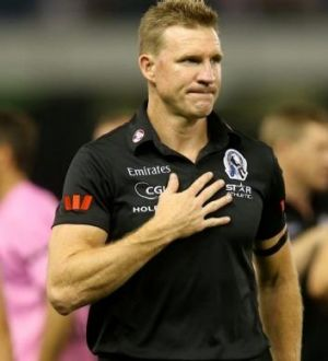 Nathan Buckley leaves the field at three-quarter time.