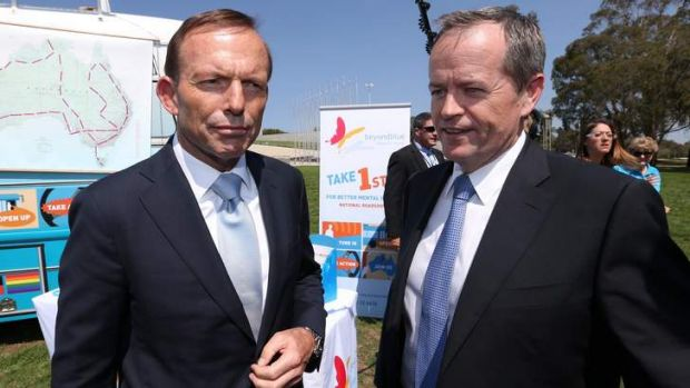 Tony Abbott and Bill Shorten. Nielsen has decided to end its national political polling after 40 years.