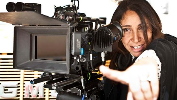 In action: Haifaa al-Mansour behind the camera for <i>Wadjda</i>.