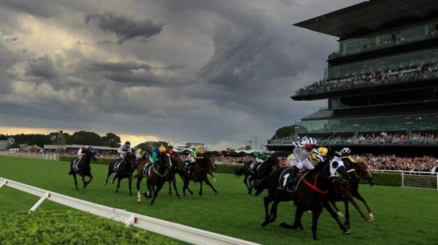 Riders on the storm: Jim Cassidy produced a great ride on Dissident to win the Randwick Guineas.