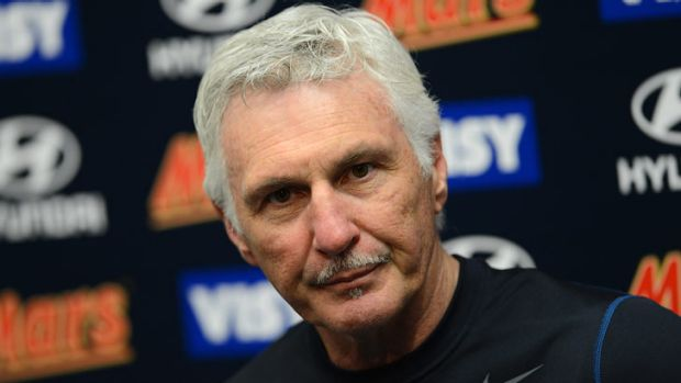 Clock watcher: Mick Malthouse says it's time.