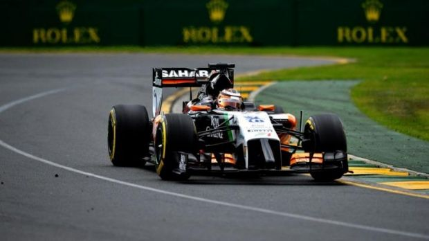 Nico Hulkenberg at Melbourne Park this week.