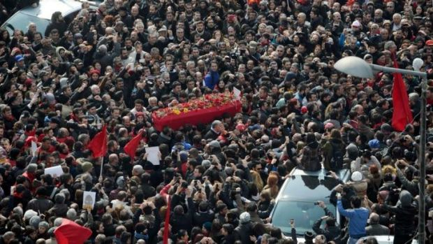 Thousands of people gathered for the funeral of teenager Berkin Elvan on March 12.