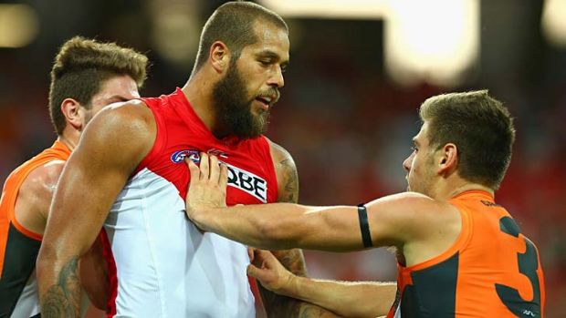 GWS pushed aside the challenge of Lance Franklin's Swans.
