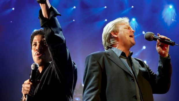 "Lionel Richie and John Farnham ""charmed the pants off"" Rod Laver Arena."