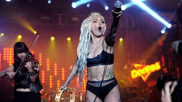 Too goo-ed? ... Lady Gaga performs on exclusive Doritos stage at  the South by Southwest Music Festival in Austin, ...