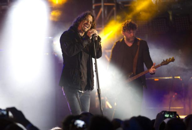 Soundgarden performs at The Guitar Center Sessions at the Starr Builidng rooftop during SXSW in Austin, Texas.