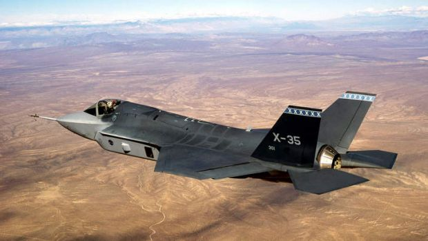 The F-35 Joint Strike Fighter.