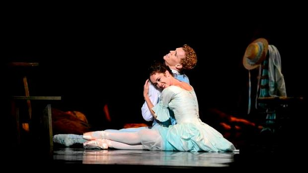 Lucinda Dunn and Adam Bull rehearse the Australian Ballet's production of <i>Manon</i> at the Arts Centre, Melbourne.