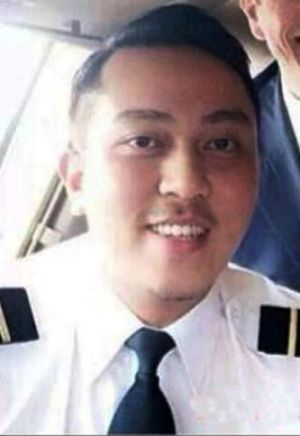 Last words: Co-pilot Fariq Abdul Hamid.