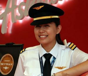 Nadira Ramli, fiancee of missing co-pilot Fariq Abdul Hamid.