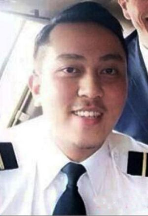 Fariq Abdul Hamid, co-pilot of MH370, in a photo posted to his community Facebook pages.