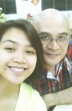 Maira Elizabeth Nari with her father Andrew Nari, the chief steward on missing Malaysia Airlines plane MH370.