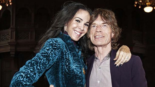 Mick Jagger pictured with his girlfriend L'Wren Scott.