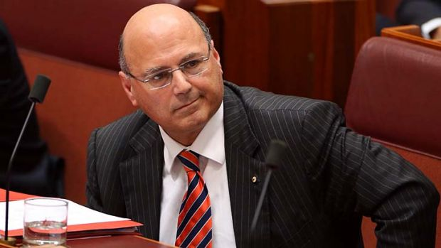 Facing questions: Senator Arthur Sinodinos.