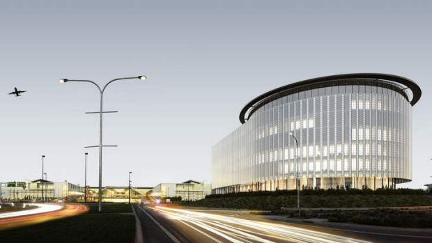 An artist's impression of the new hotel at Canberra Airport.