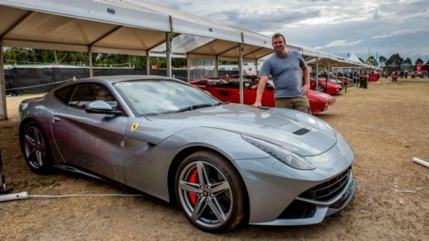 Pick of the bunch .... the choice to take a ride in the Ferrari F12 wasn't a hard one to make.