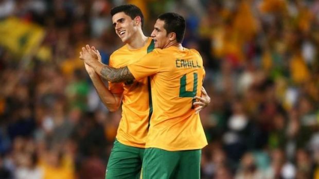 Shining lights: Tom Rogic and Tim Cahill.
