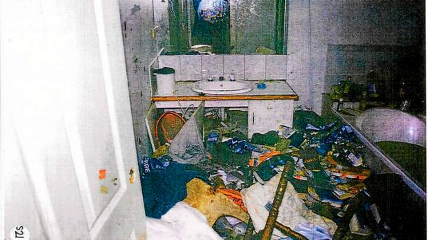 A 'state of extreme squalor': A police photograph of the dead boy's home.