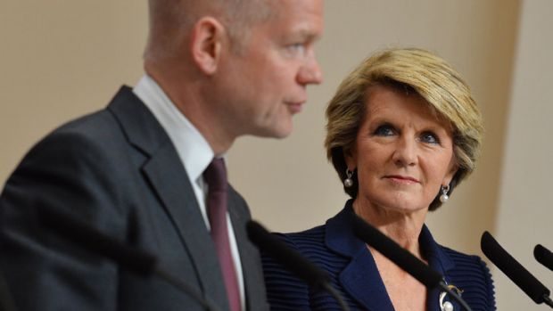 Foreign Minister Julie Bishop has not ruled out preventing Vladimir Putin from attending the G20 summit in Brisbane.