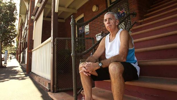 Barney Gardner, 65, was one of the public housing residents in Millers Point who have been told they will soon have to ...