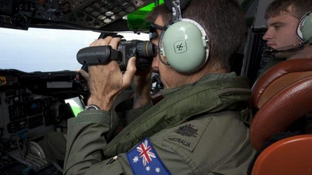 Watchful eye ... Australia has reduced its search area in the southern Indian Ocean using surveillance aircraft ...