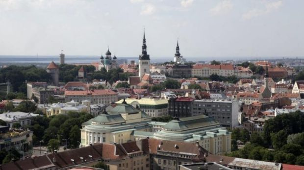 The Estonian capital of Tallinn. Russia says it has the right to protect Russian-speakers outside of its borders.
