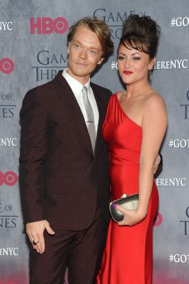 Theon actor Alfie Allen and partner Jaime Winstone at the <i>Game Of Thrones</i> Season 4 New York premiere.