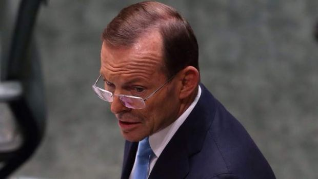 Prime Minister Tony Abbott announces that satellite images show objects in the waters off Perth that could be debris ...