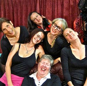 The cast of The Vagina Monologues by Wild Women Productions.