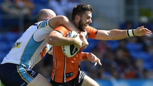 Hot property: Wests Tigers fullback James Tedesco has been linked to Canterbury.