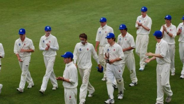 Nathan Lyon, Ryan Carters and Jason Behrendorff in action for the ACT under-19s in 2007-08.