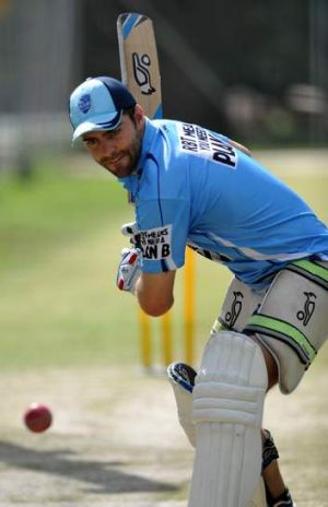 Former Canberra player, Ryan Carters, in the nets for NSW on Thursday.