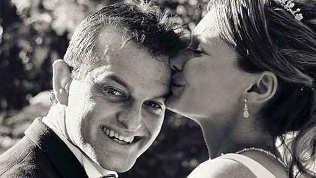 No answers: Paul and Danica Weeks on their wedding day in 2007.
